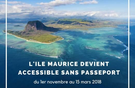 L'ÎLE MAURICE ÉLUE MEILLEURE DESTINATION TOURISTIQUE ÉTRANGÈRE SUR LES RÉSEAUX SOCIAUX EN FRANCE... maintenant accessible avec une simple carte d'identité